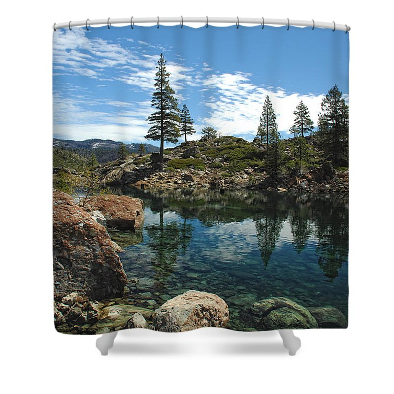 Country Shower Curtain featuring the photograph The Great Outdoors by Donna Blackhall