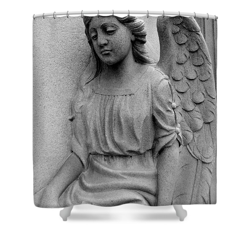 Angel Shower Curtain featuring the photograph The Guardian by Rachel Kaufmann