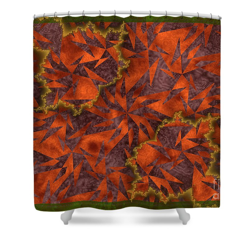 The Harvest Shower Curtain featuring the digital art The Harvest by Kimberly Hansen