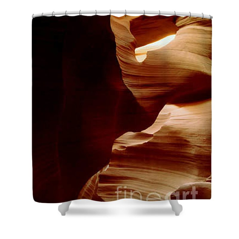 Landscape Shower Curtain featuring the photograph The Heart Of Antelope Canyon by Kathy McClure