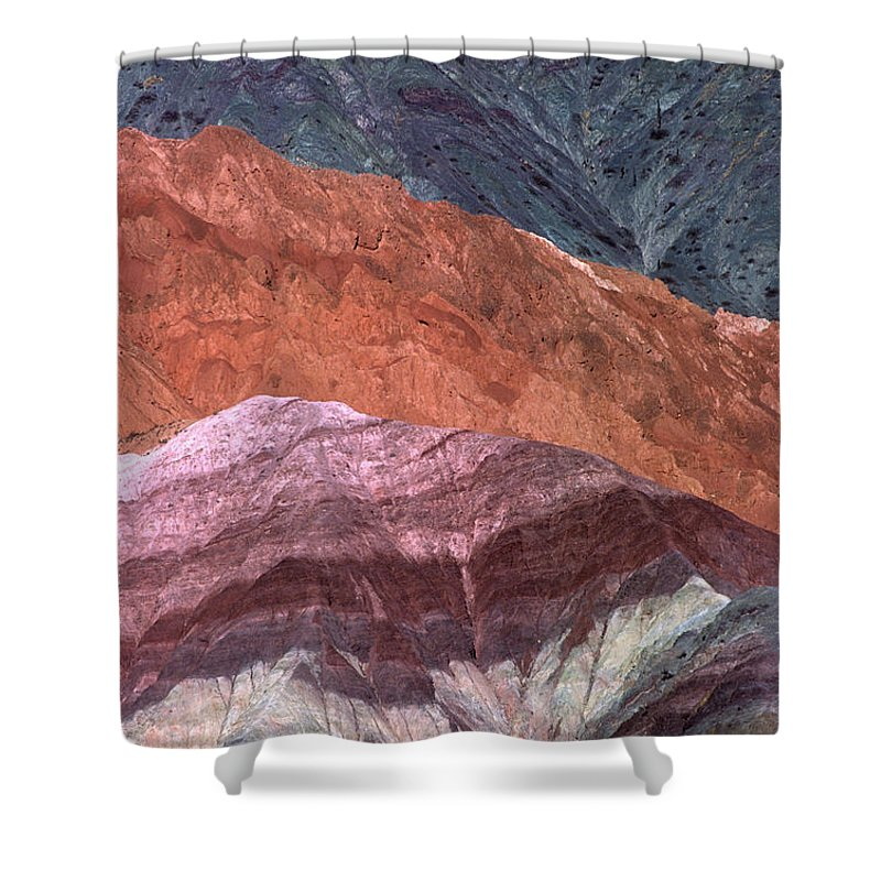 Argentina Shower Curtain featuring the photograph The Hill Of Seven Colors Argentina by James Brunker