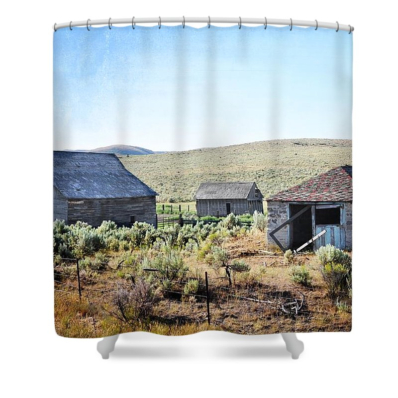 Barn Shower Curtain featuring the photograph The Homestead by Image Takers Photography LLC