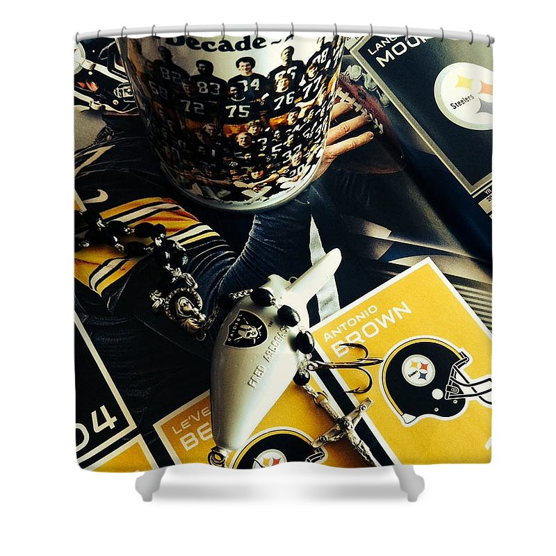 Pittsburgh Steelers Shower Curtain featuring the photograph The Immaculate Reception 2 by Michael Krek