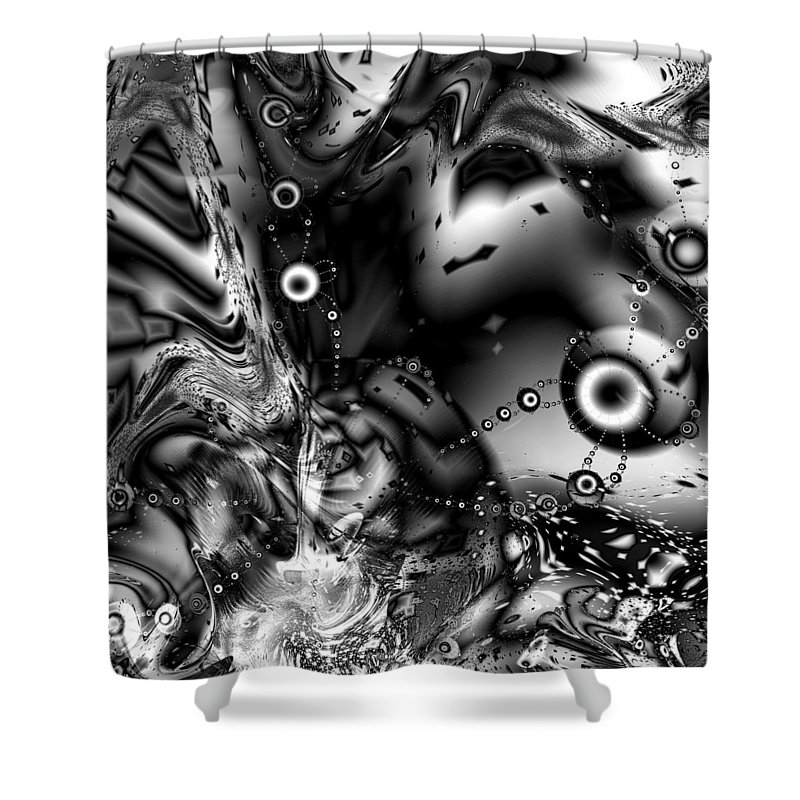 Invaders Shower Curtain featuring the digital art The Invaders by Kiki Art