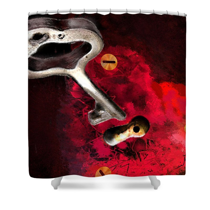 Love Shower Curtain featuring the painting The Key To My Heart by Miki De Goodaboom