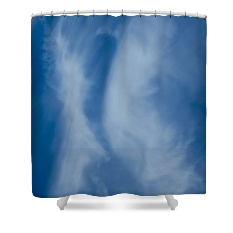 Kiss Shower Curtain featuring the photograph The Kissing Clouds by David Pyatt