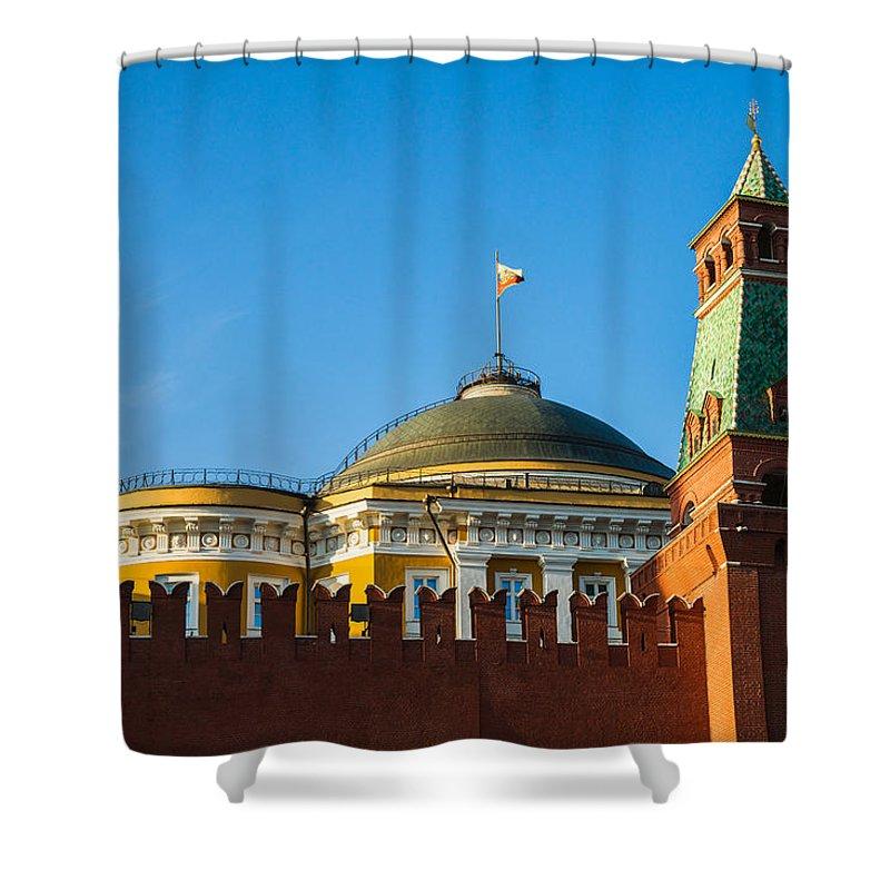 Architecture Shower Curtain featuring the photograph The Kremlin Senate Building by Alexander Senin