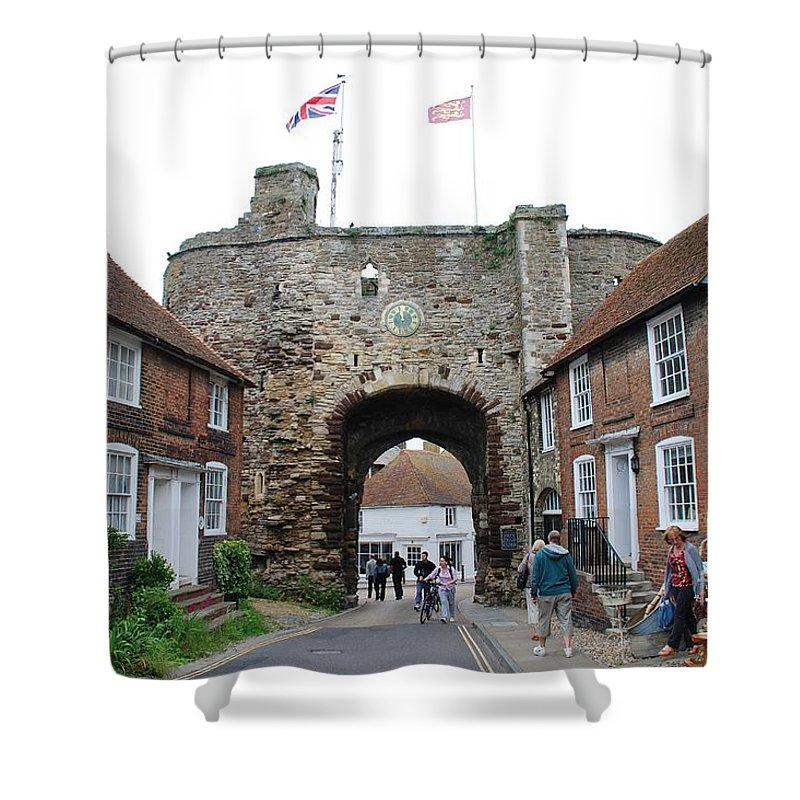 Landgate Shower Curtain featuring the photograph The Landgate Rye by David Fowler