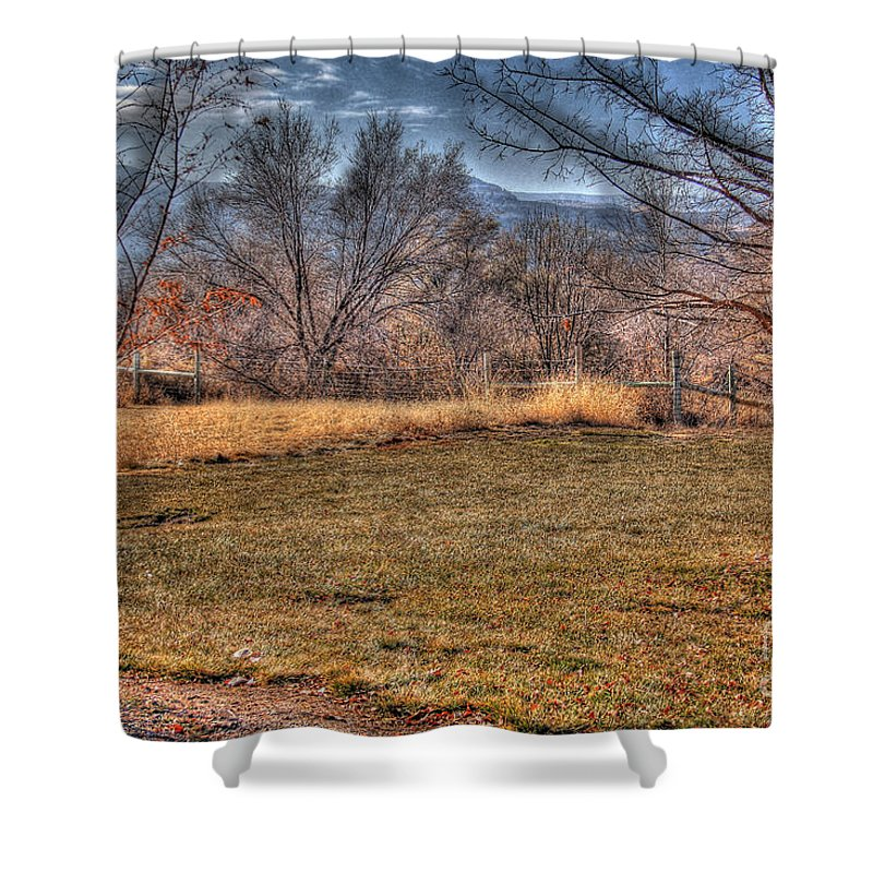 Colorado Shower Curtain featuring the photograph The Last Days Of Fall by Bob Hislop