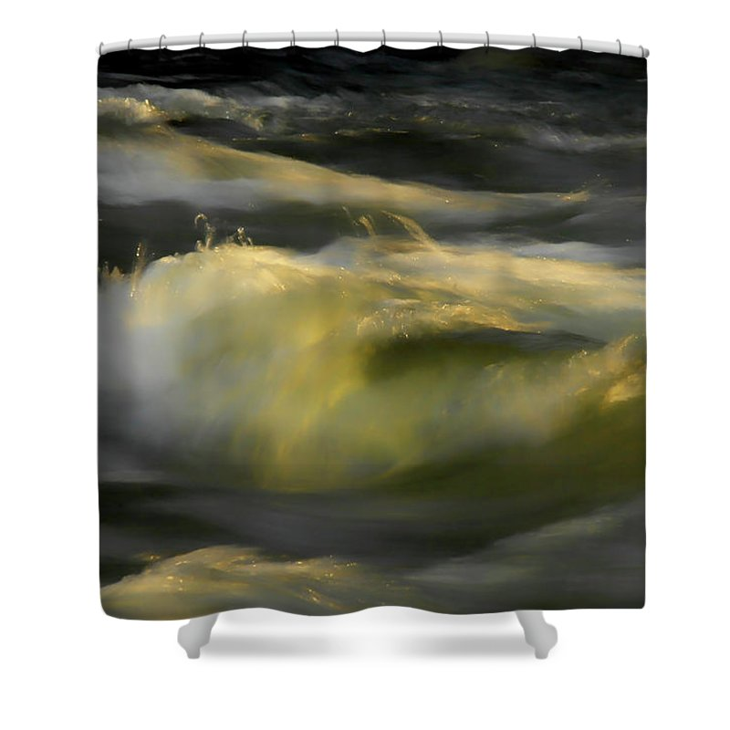 Water Shower Curtain featuring the photograph The Last Light Of Sun by Donna Blackhall