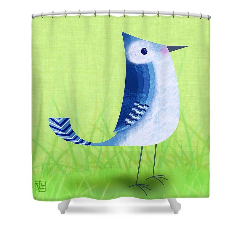 Bluebird Shower Curtains
