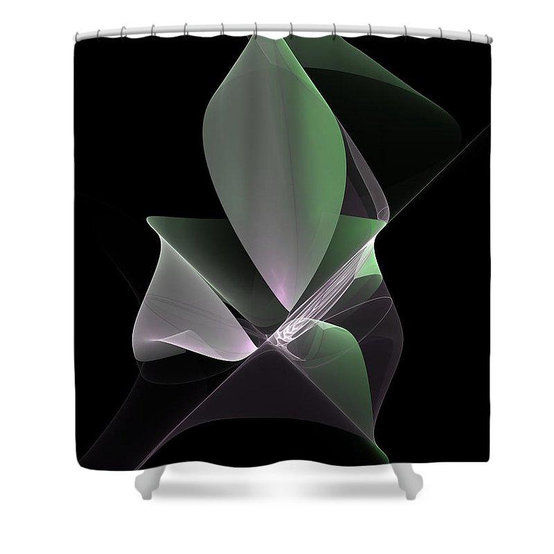 Abstract Shower Curtain featuring the digital art The Light Inside by Gabiw Art