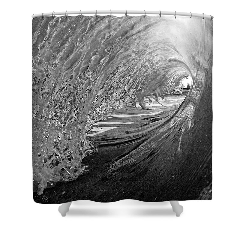 Santa Cruz Shower Curtain featuring the photograph The Lighthouse At The End Of The Tunnel by Paul Topp