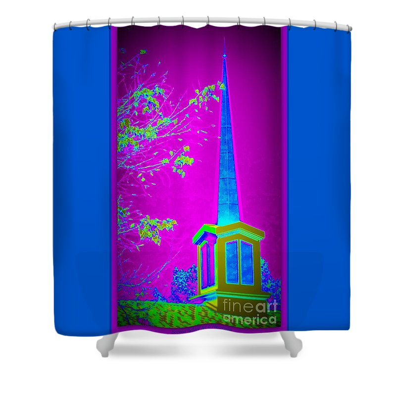 Acrylic Prints Shower Curtain featuring the photograph The Lights On by Bobbee Rickard