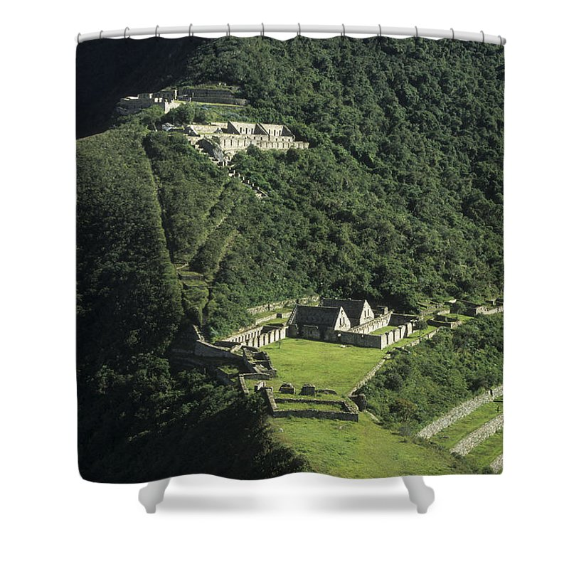 Peru Shower Curtain featuring the photograph The Lost City Of Choquequirao by James Brunker