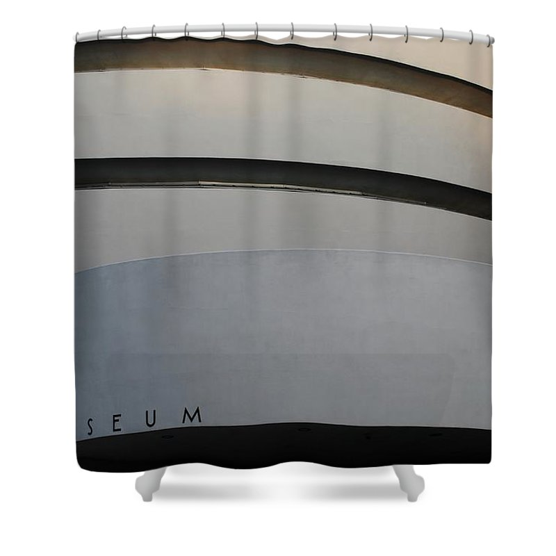 Scenic Shower Curtain featuring the photograph The M Museum by Rob Hans