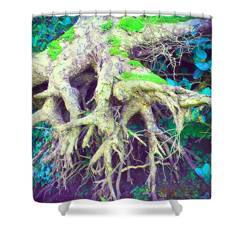 Tree Shower Curtain featuring the photograph The Magical Hobbit Tree by Absinthe Art By Michelle LeAnn Scott