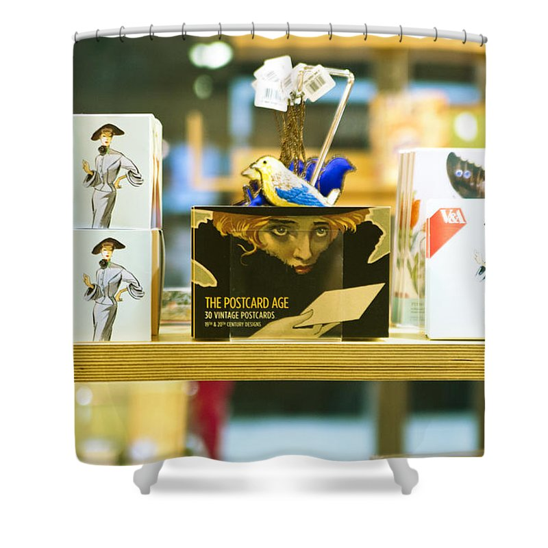 Message Shower Curtain featuring the photograph The Messenger by Alex Art and Photo