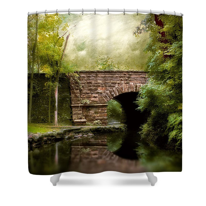 Bridge Shower Curtain featuring the photograph The Midland Bridge by Jessica Jenney