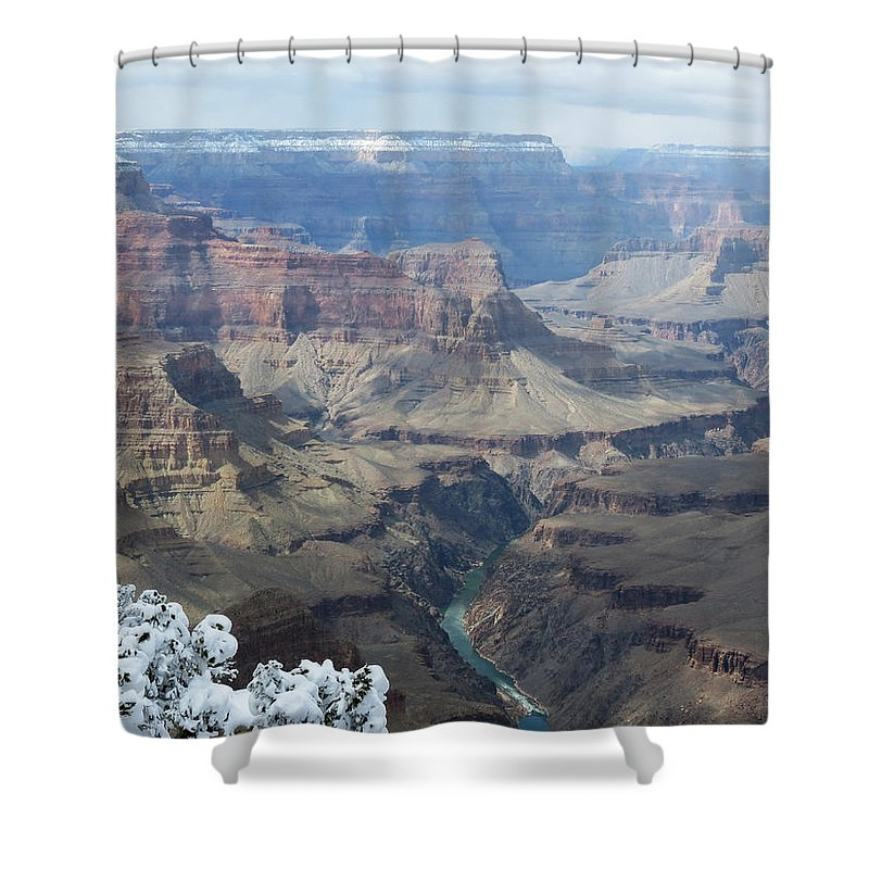 Colorado River Shower Curtain featuring the photograph The Mighty Colorado River by Laurel Powell