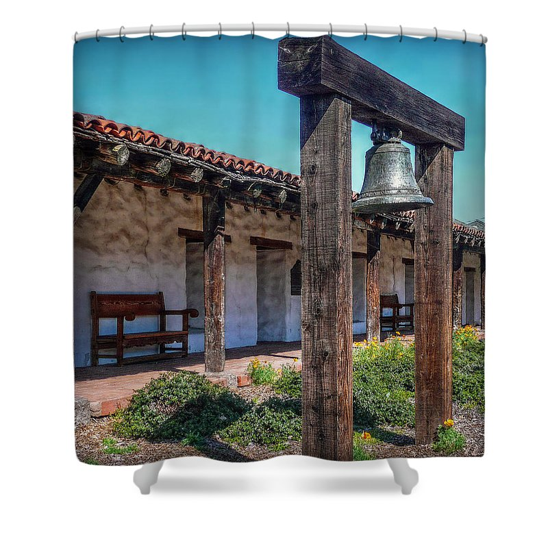 San Francisco Shower Curtain featuring the photograph The Mission Bell by Hanny Heim