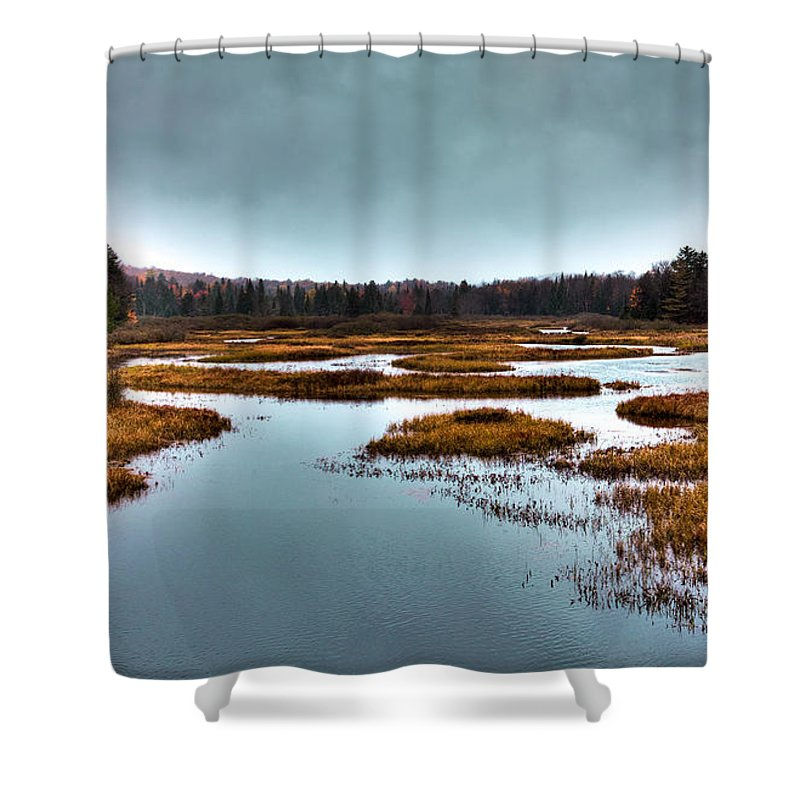 Adirondack's Shower Curtain featuring the photograph The Moose River - Old Forge New York by David Patterson