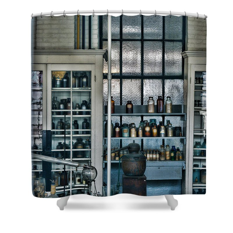 Paul Ward Shower Curtain featuring the photograph The Old Chemistry Lab by Paul Ward