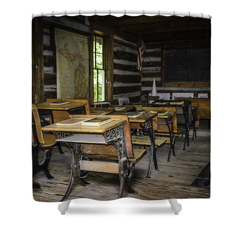 Usa Shower Curtain featuring the photograph The Old Mikado Bailey School House by LeeAnn McLaneGoetz McLaneGoetzStudioLLCcom