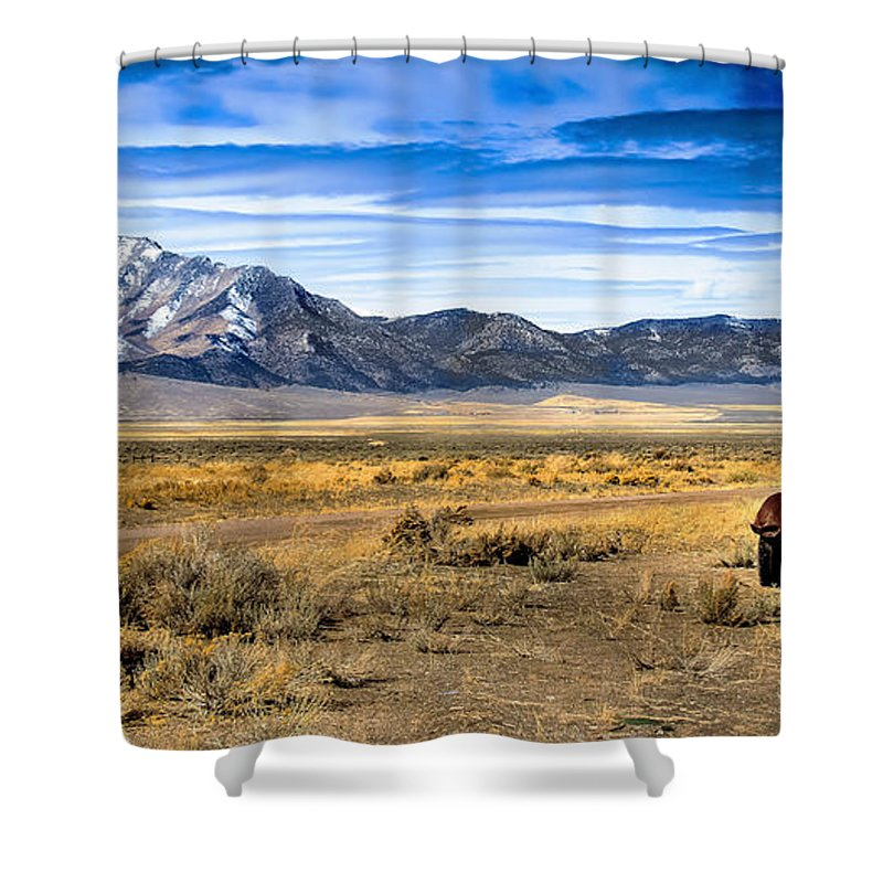 Old Truck Shower Curtain featuring the photograph The Old One by Robert Bales