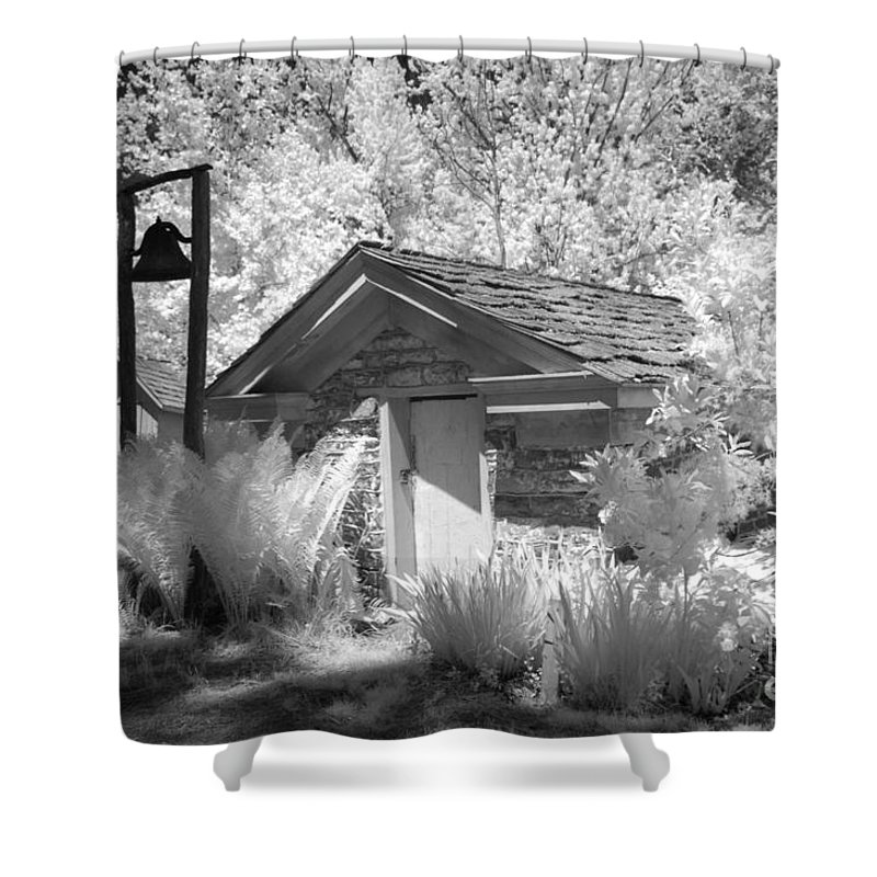 Well House Shower Curtain featuring the photograph The Old Spring House by Paul W Faust - Impressions of Light