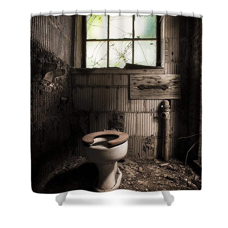 The Old Thinking Room - Abandoned Restroom And Toilet Shower Curtain ...