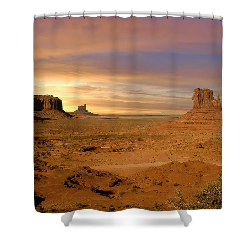 The Old West Shower Curtain featuring the photograph The Old West by Randall Branham