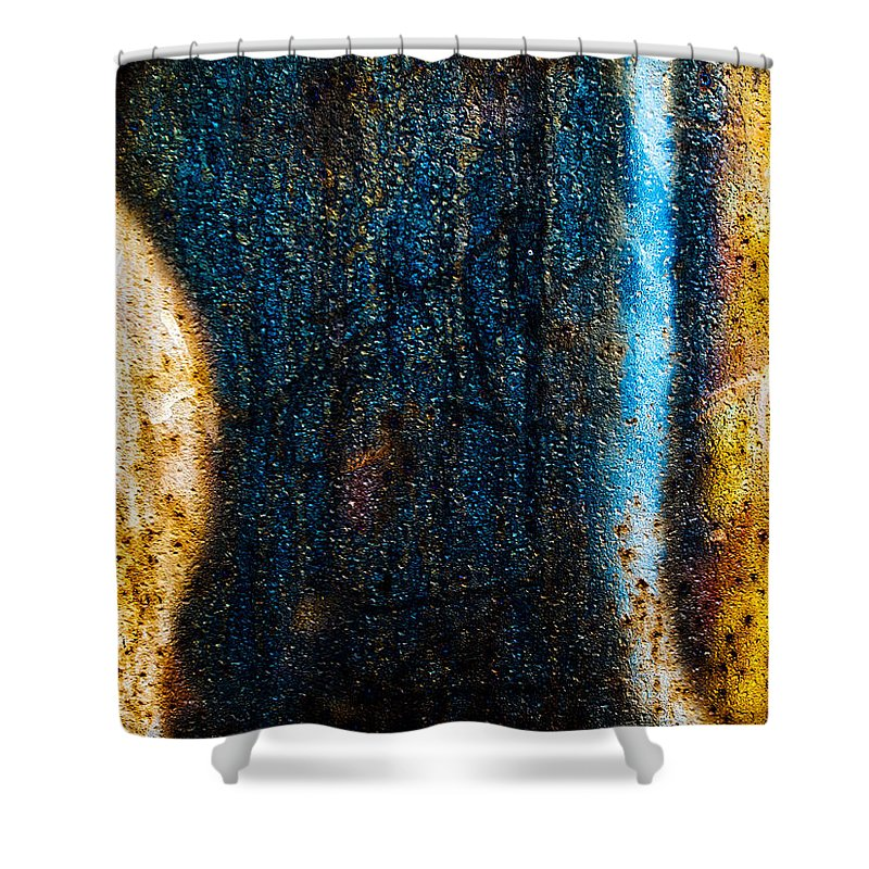 Abstract Shower Curtain featuring the photograph The Other Half by Bob Orsillo