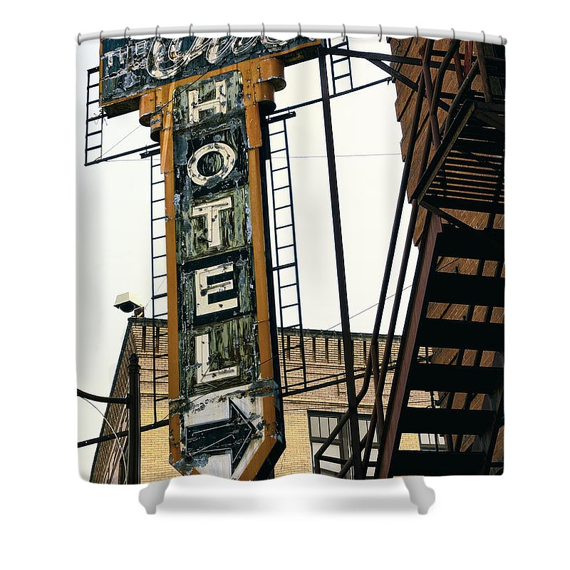 Hotel. Spokane Shower Curtain featuring the photograph The Otis Hotel by Daniel Hagerman