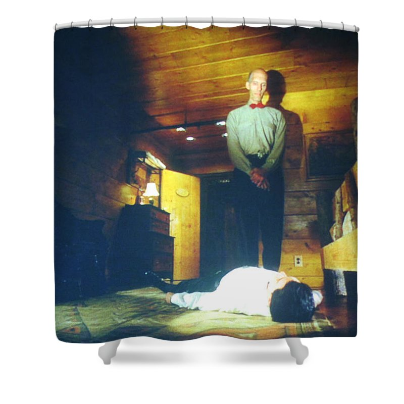 Laura Palmer Shower Curtain featuring the painting The Owls Are Not What They Seem by Luis Ludzska