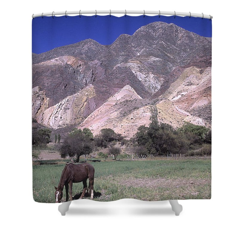 Argentina Shower Curtain featuring the photograph The Painters Palette Jujuy Argentina by James Brunker