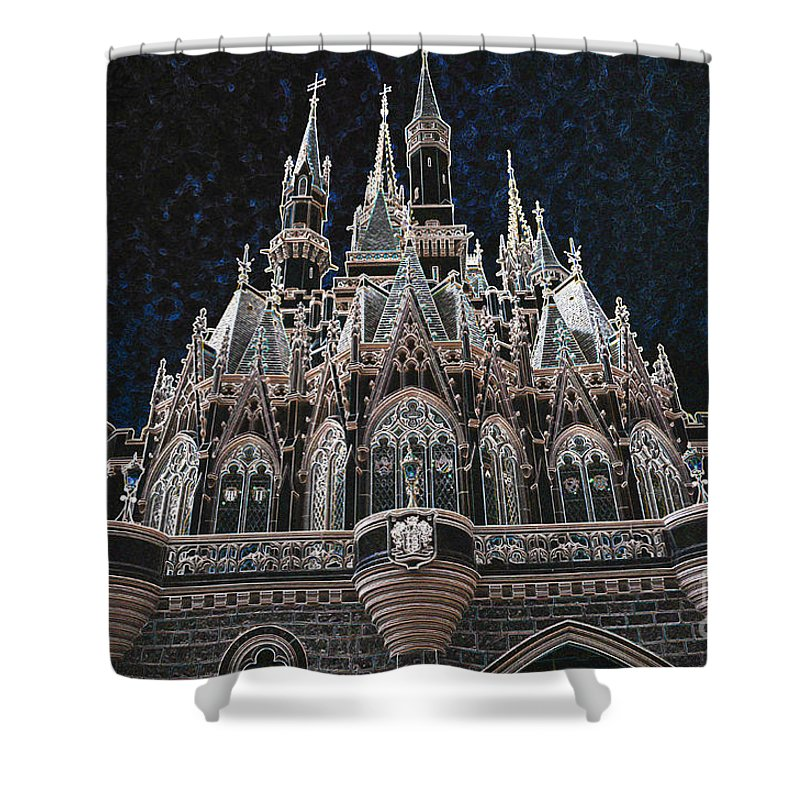 The Palace Shower Curtain featuring the photograph The Palace by Robert Meanor