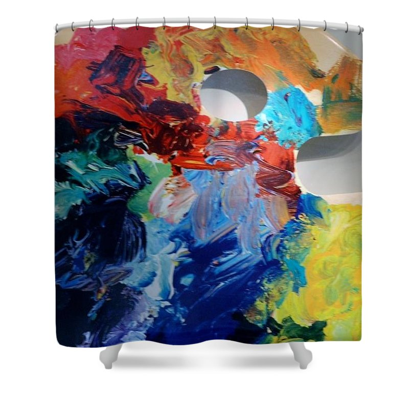Abstract Shower Curtain featuring the photograph The Palet by Rob Hans