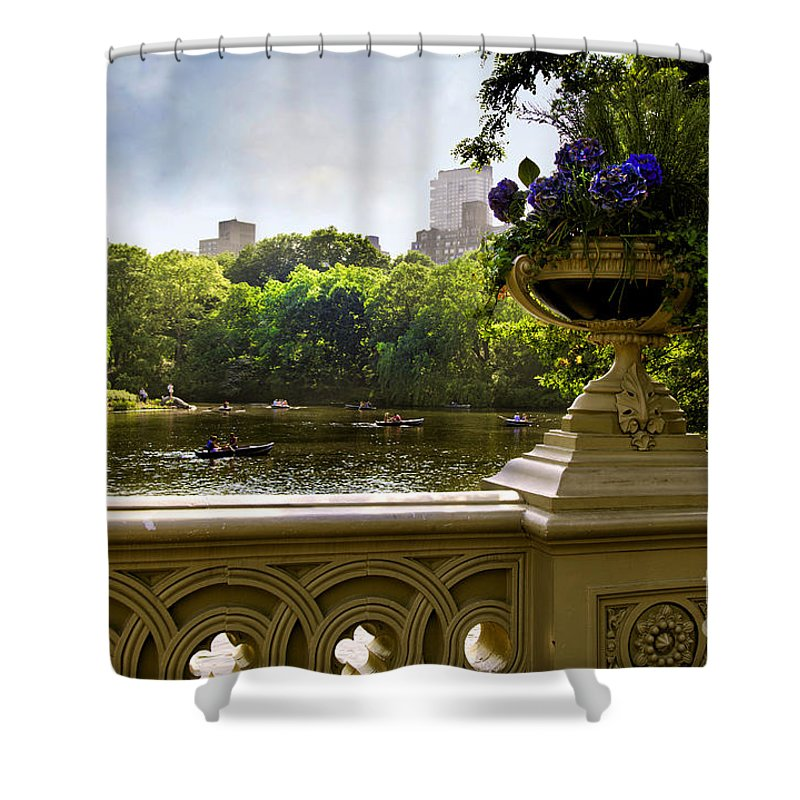 Park Shower Curtain featuring the photograph The Park On A Sunday Afternoon by Madeline Ellis