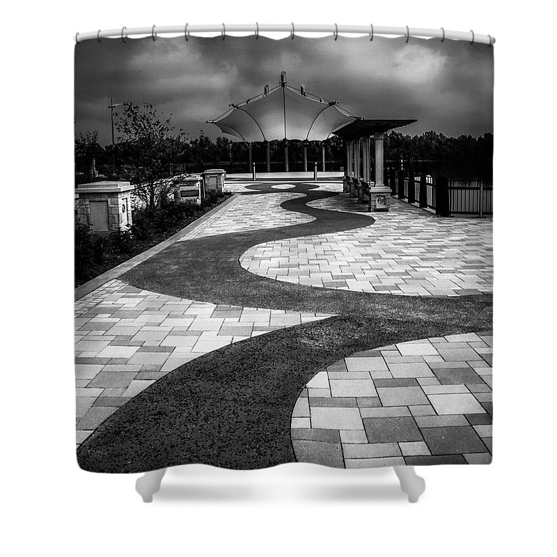Path Shower Curtain featuring the photograph The Path by Warrena J Barnerd