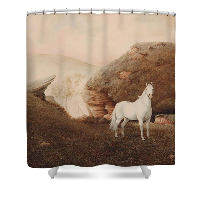 Horse Shower Curtain featuring the painting The Patriarch by Duane R Probus