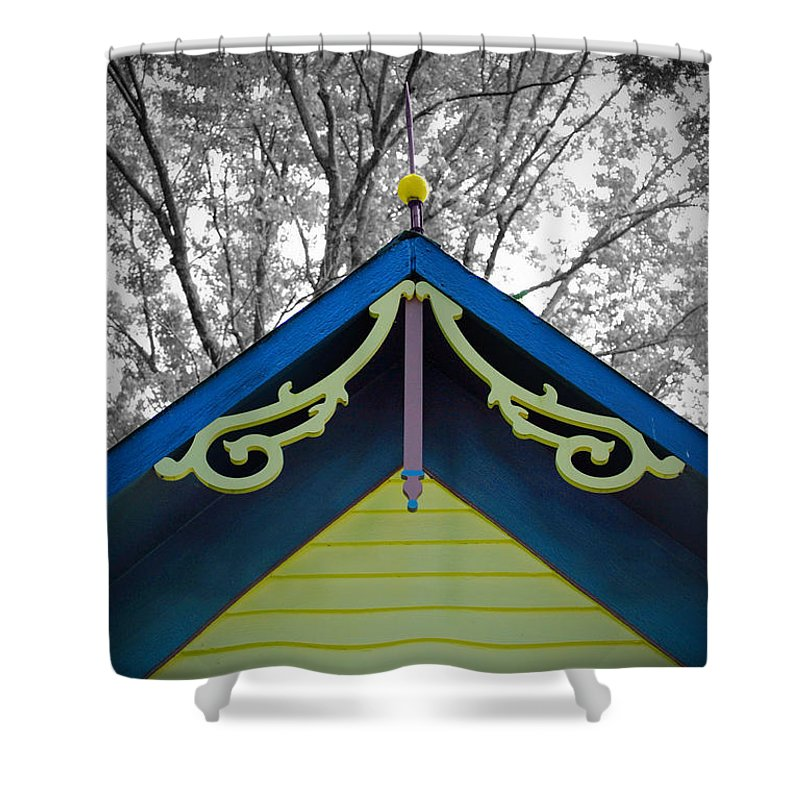 Victorian Shower Curtain featuring the photograph The Peak by Jost Houk