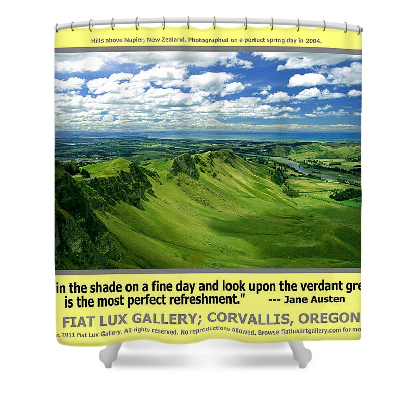 New Zealand Shower Curtain featuring the photograph The Perfect Refreshment by Michael Moore