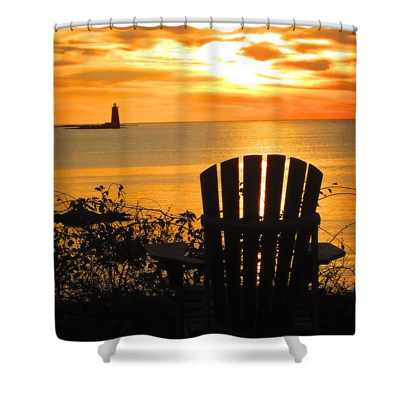 Nh Shower Curtain featuring the photograph New Castle New Hampshire by Jeffrey Akerson