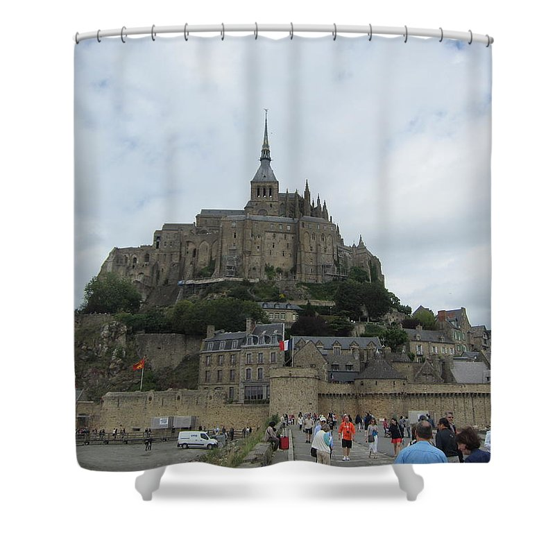 Mont St. Michel Shower Curtain featuring the photograph The Pilgrimage by Pema Hou