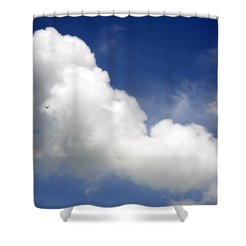 Air Shower Curtain featuring the photograph The Plane by Les Cunliffe