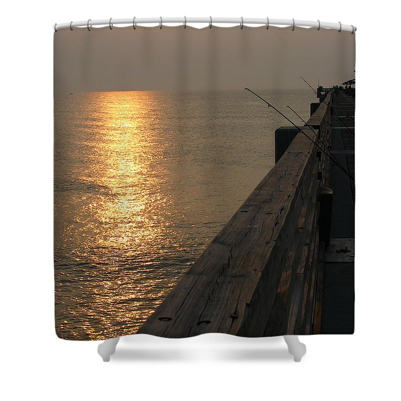 Art For The Wall...patzer Photography Shower Curtain featuring the photograph The Pole by Greg Patzer