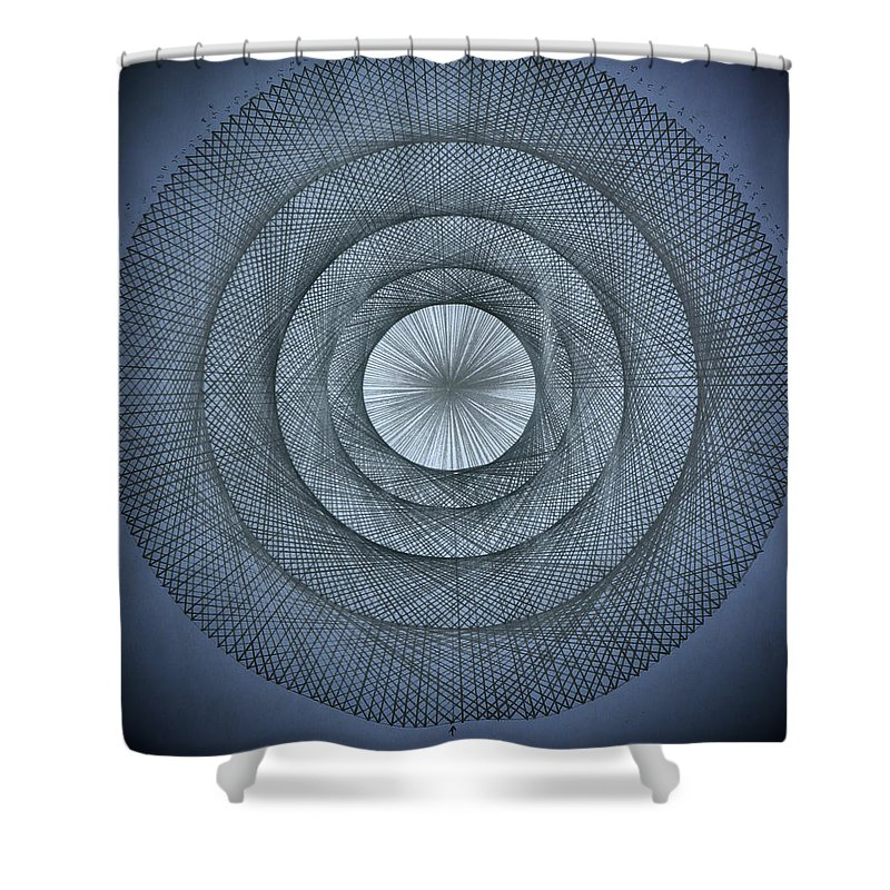Pi Shower Curtain featuring the drawing The Power Of Pi by Jason Padgett