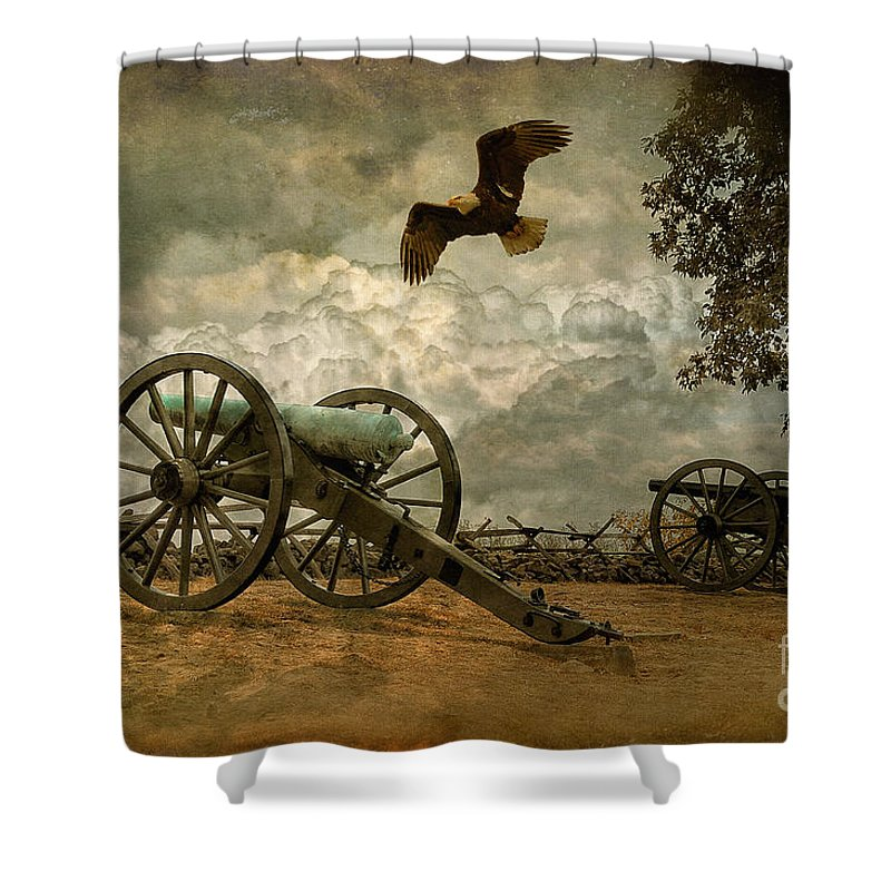 Canon Shower Curtain featuring the photograph The Price Of Freedom by Lois Bryan