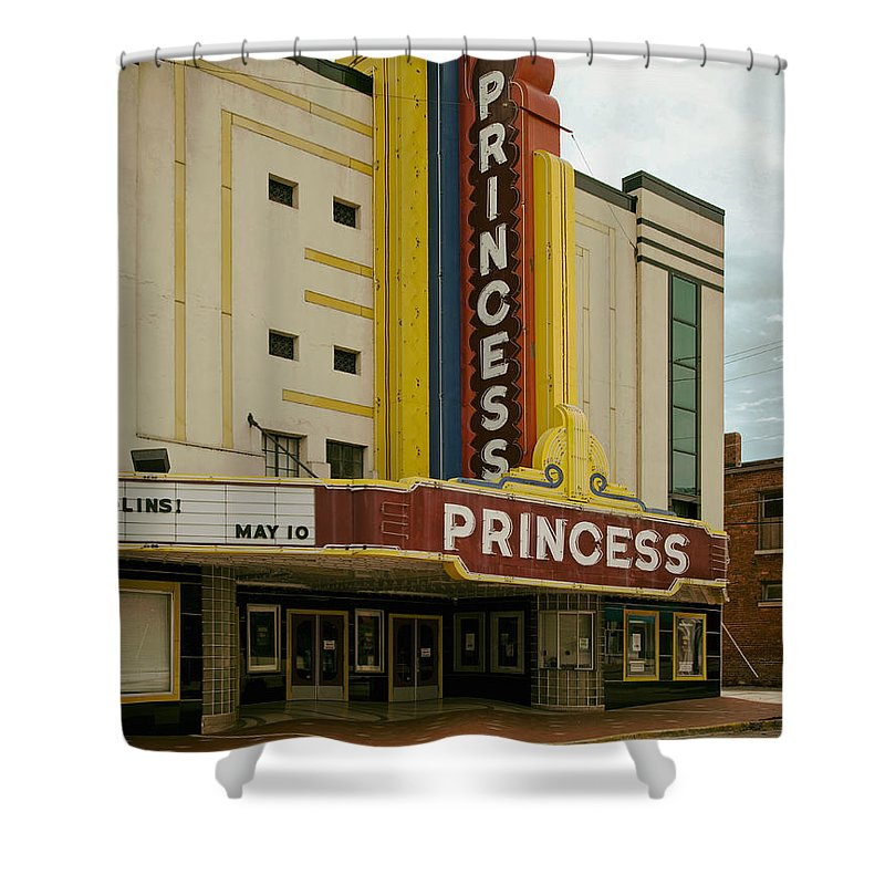 Decatur Shower Curtain featuring the photograph The Princess Theatre by Mountain Dreams
